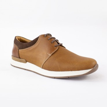 Zapato en cuero con cordón